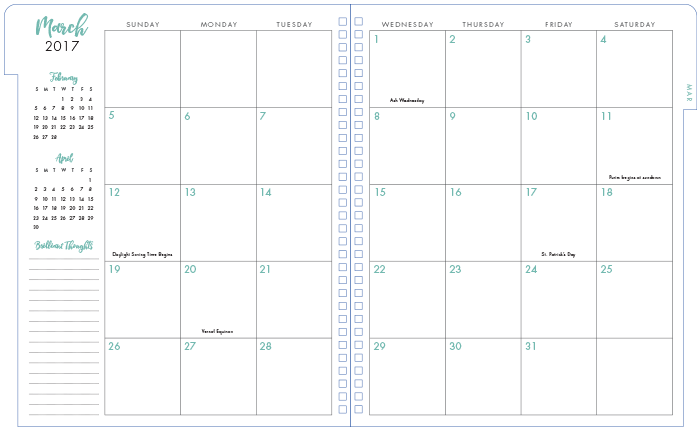 12 Month Monthly Planners for TJX