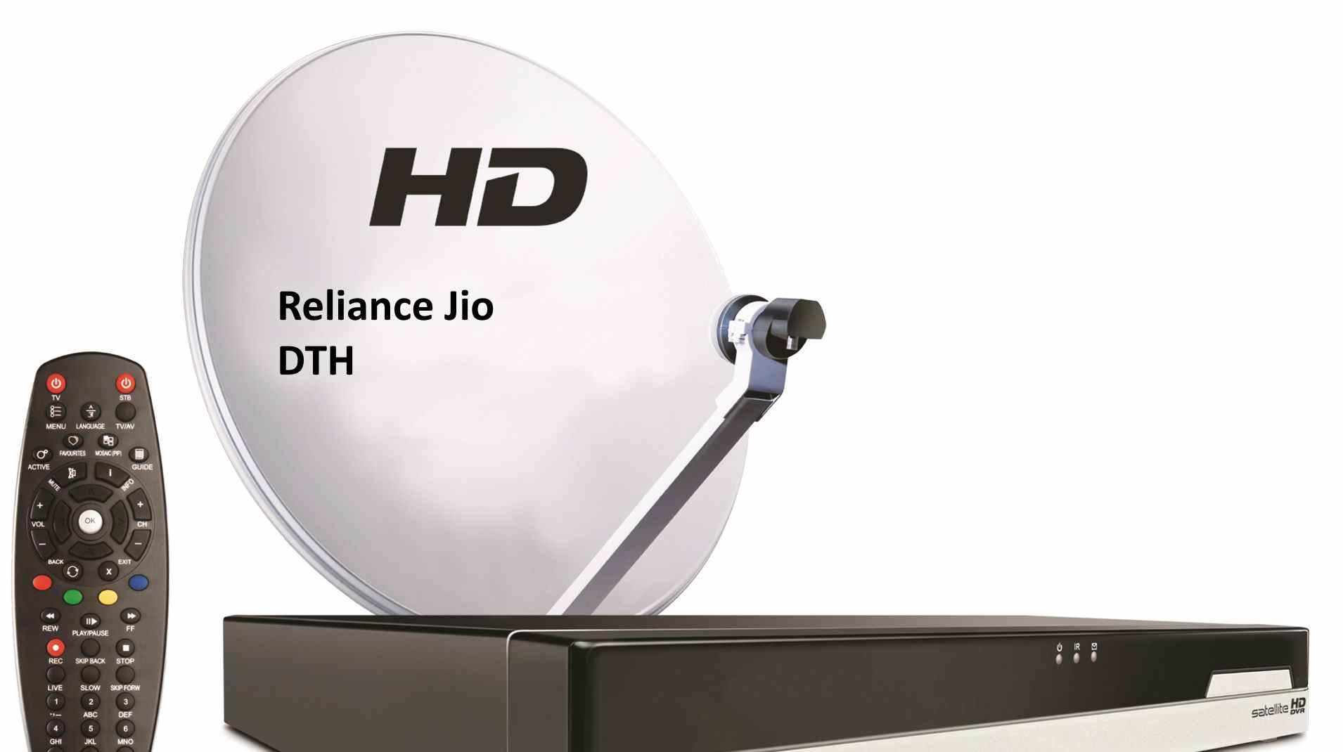 Jio DTH Dish Set Top Box Specification, Plans and Price in India