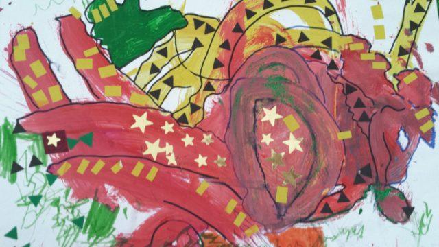 Peinture, feutre et collage