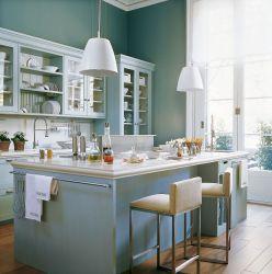 cocina cocinas azul office barra isla suelo parquet decorar deulonder elmueble grande lacado interiores cozinha mobiliario cuatro