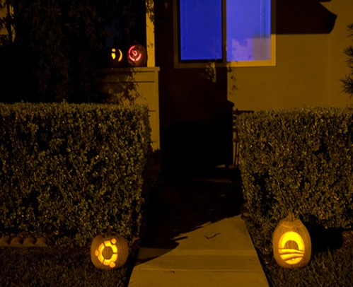 Halloween geek pumpkins 1