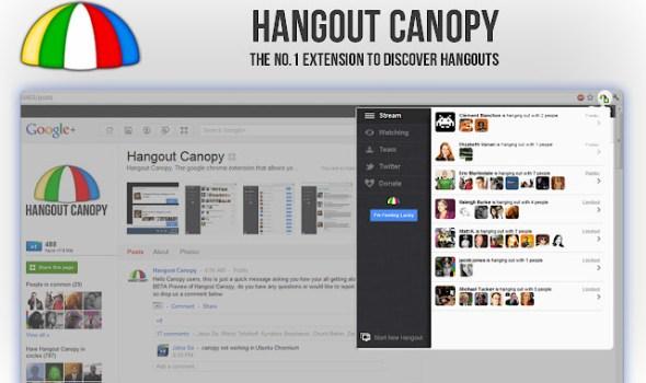 Hangout Canopy Chrome Extension