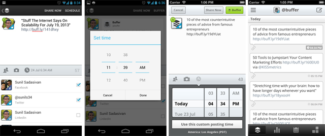 Android iOS custom schedule