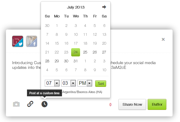 custom scheduling