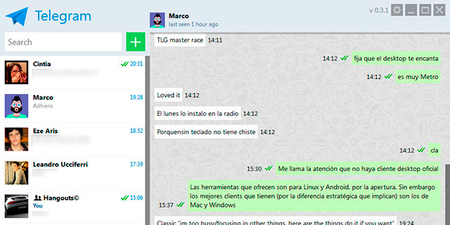 Telegram en Windows