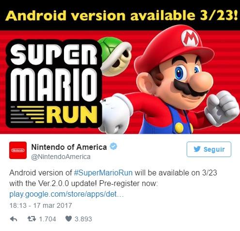 Super mario run disponible en android