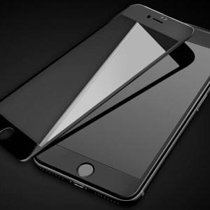 Folie sticla 3D pentru iPhone x Plus neagra