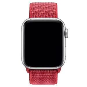Curea textil rosu apple watch