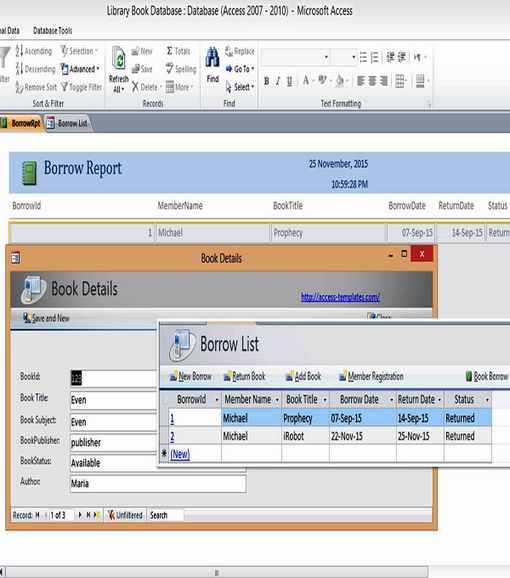 microsoft access templates library