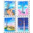 3D切手型マグネット(全4種)