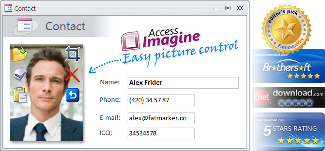AccessImagine (Microsoft Access image control) on form