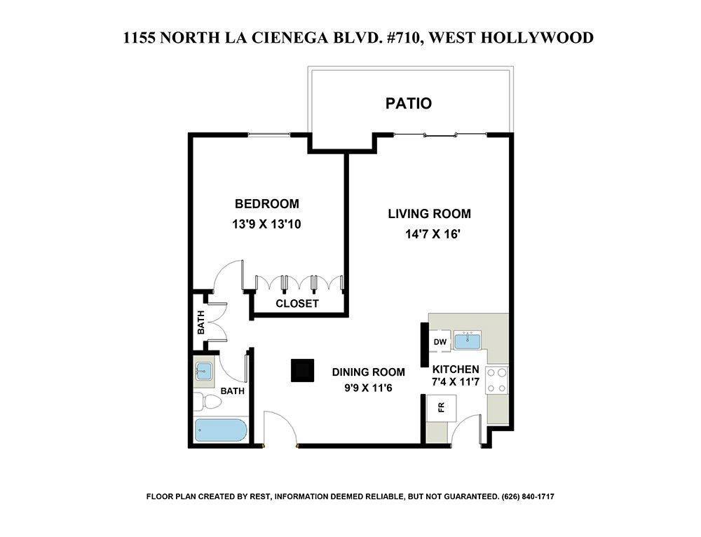 1155 N. La Cienega Blvd., #710 West Hollywood, CA 90069