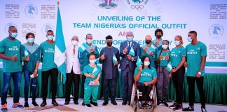 PHOTO NEWS: Osibanjo Attends Send Forth Ceremony For Nigeria's 2021 Olympic Team
