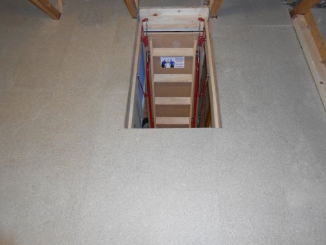 Hideaway wooden ladder