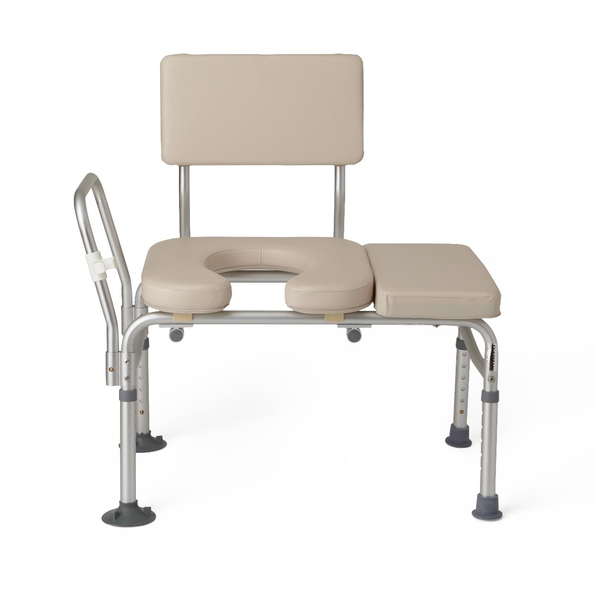 Transfer Chair For Shower Medline Padded Transfer Bench With Commode Access Abilities