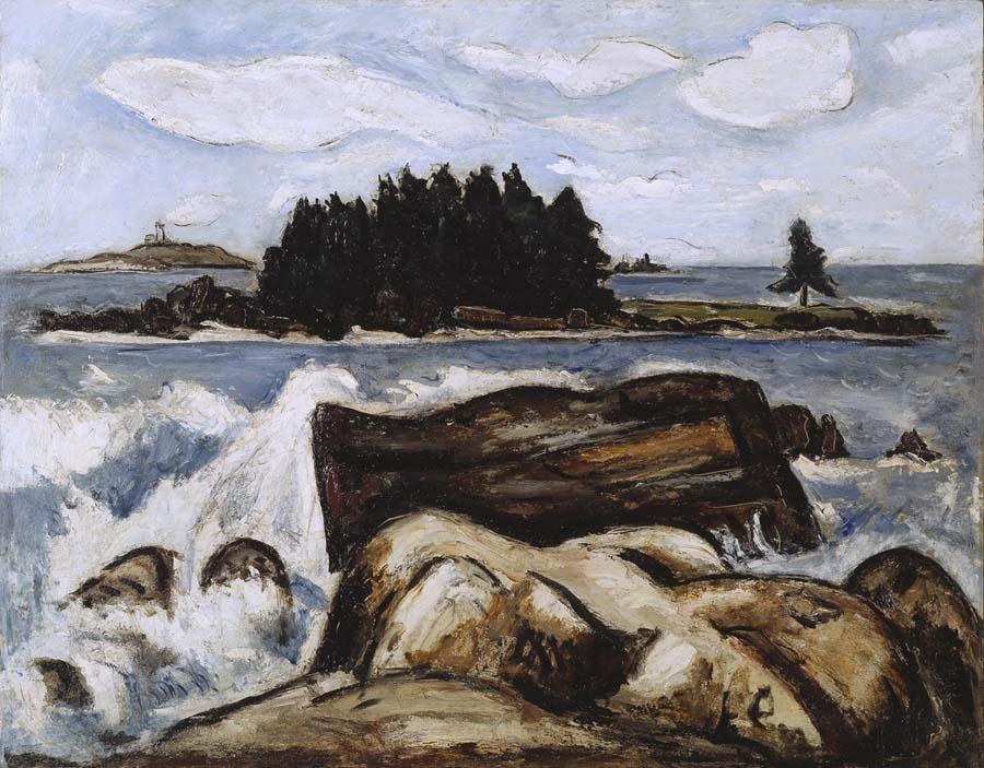 Jotham's Island (now Fox) by Marsden Hartley, 1937.