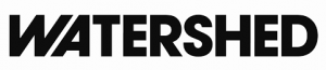 image shows the watershed logo in uppercase black letters