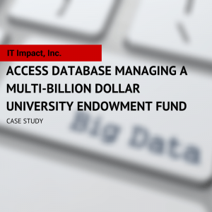 Case Study Microsoft Access Database with SQL Server Access Experts IT Impact Chicago