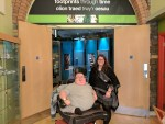 Principal Consultant Richard Jones with Cynon Valley Museum Development Manager Charlotte Morgan