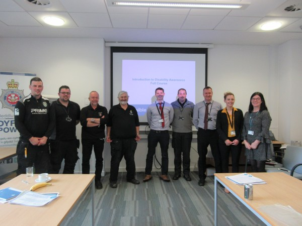 Staff from the office of the Dyfed-Powys Police and Crime Commissioner's Office after completing the course