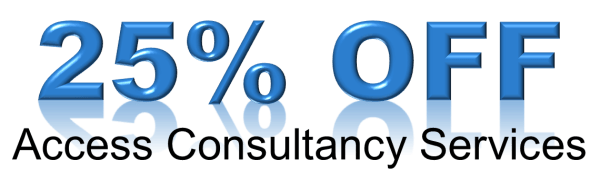 25% off access consultancy service in March 2019