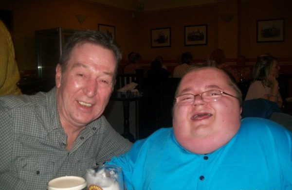 Graham and I having a pint together