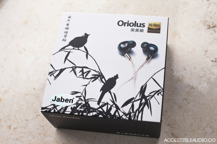 The Oriolus' outer packaging box sleeve.