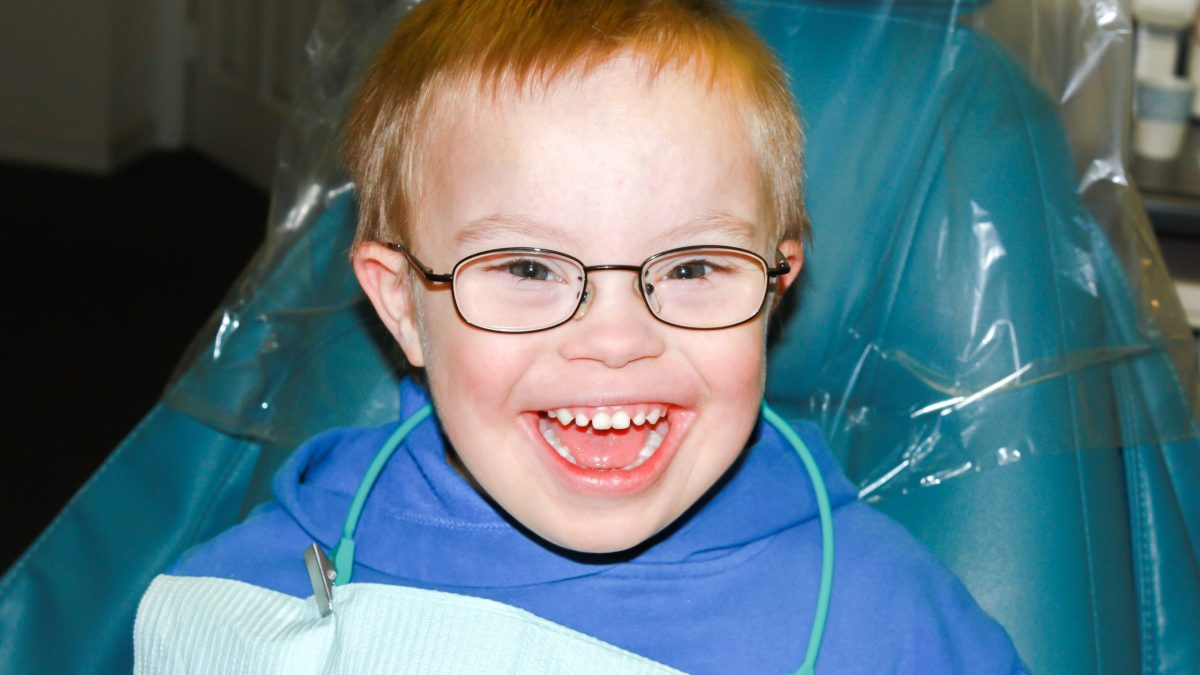 Boy With Down Syndrome at Dentist