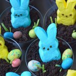 Bunny peeps in pudding cups