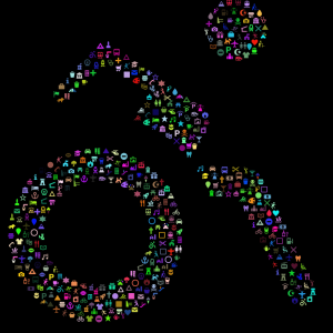 Colourful wheelchair