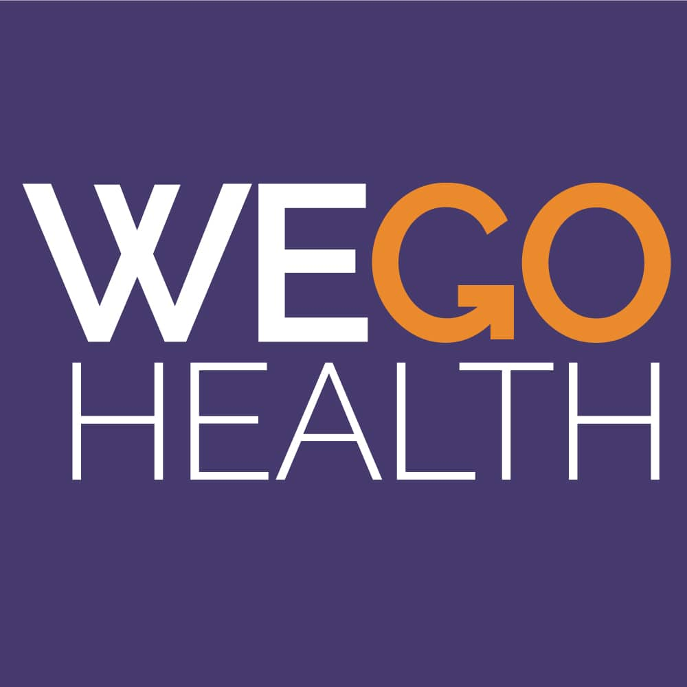 Purple background with the words Wego Health