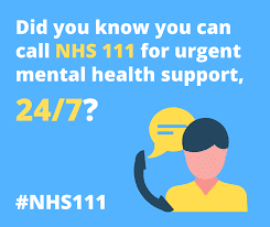 Did you know you can call nhs 111 for urgent mental health support 24/7 #NHS111
