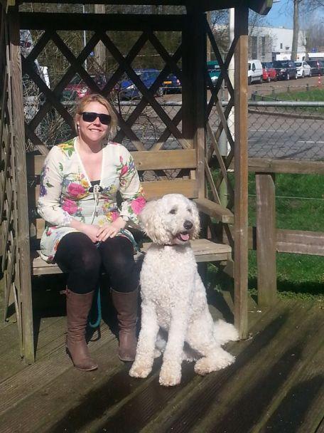danielle en noah her guide dog