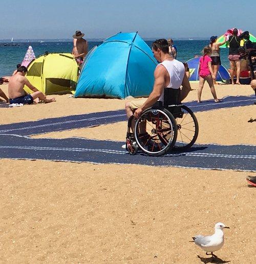 accessible beach melbourne australia