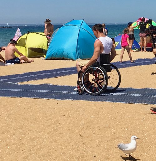 accessible beach melbourne australia