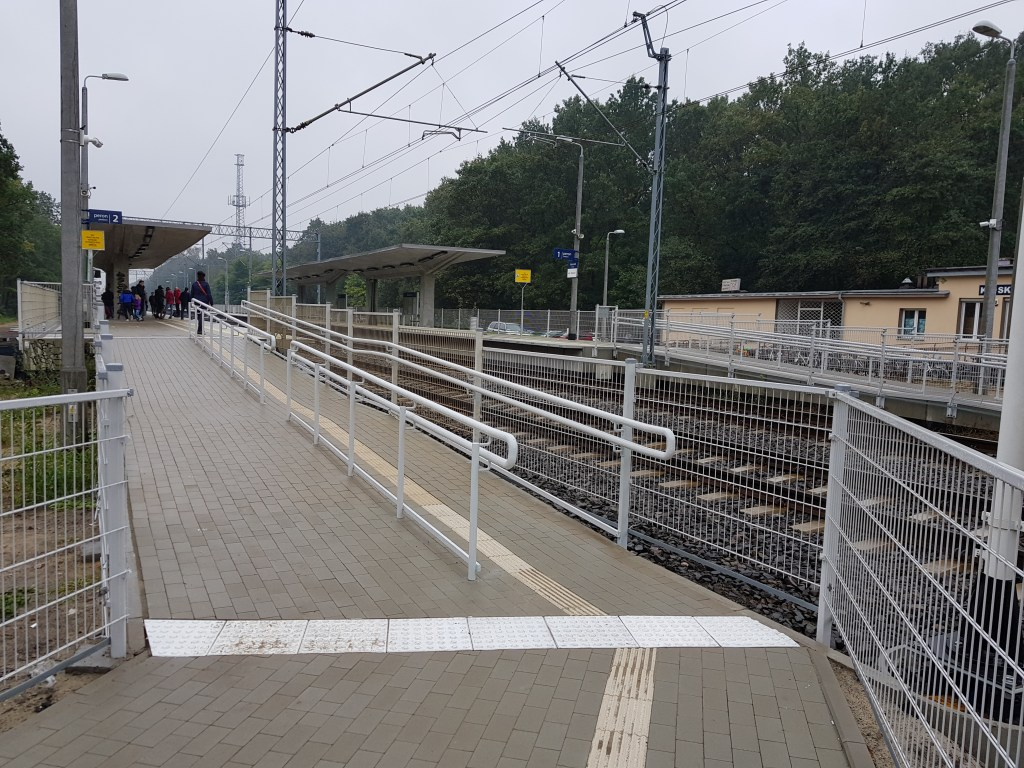 Poland train station accessible