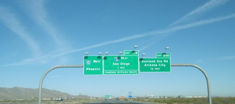 road sign AZ