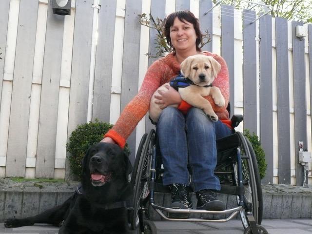 Sandra met Wizzard pup