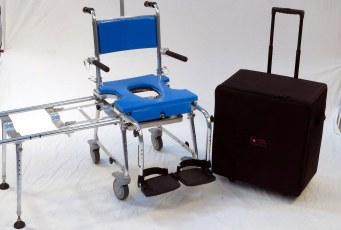 chair blue with case