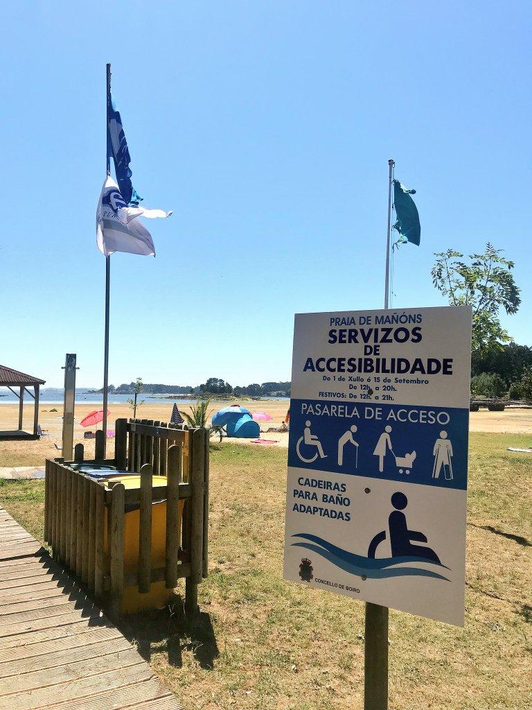 boiro beach wheelchair spain