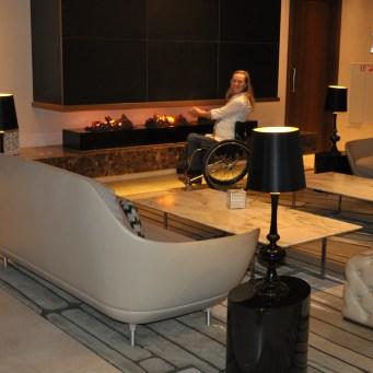 Melanie fireplace Hilton Rotterdam