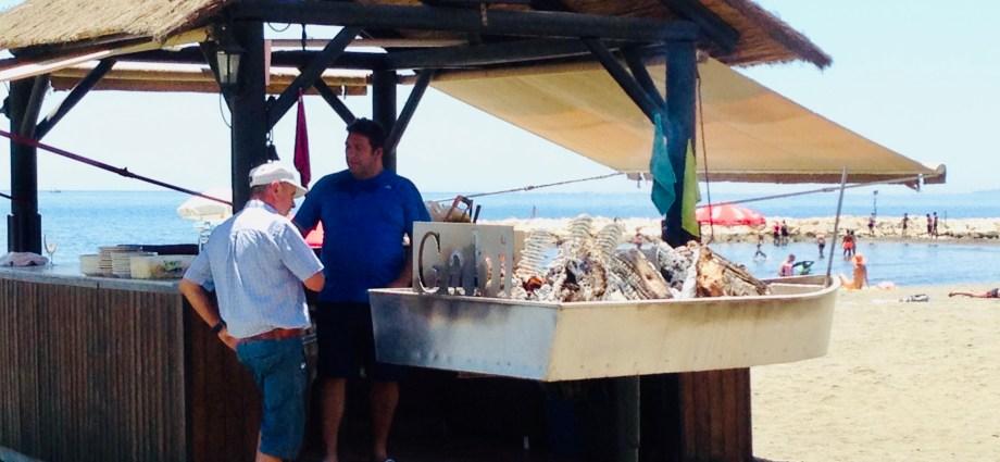 Sardines at the beach Malaga Spain