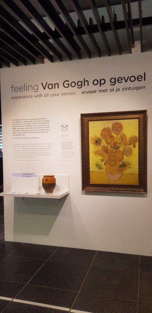 Van Gogh tactile painting the sunflowers