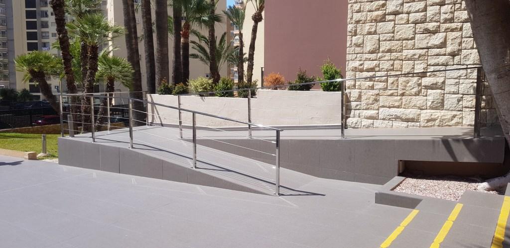 Entrance hotel ramp in Spain