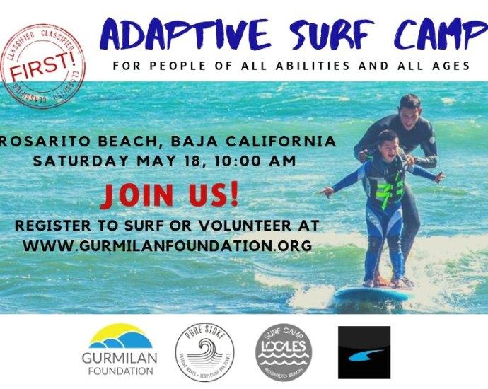 adaptive surf camp baja california
