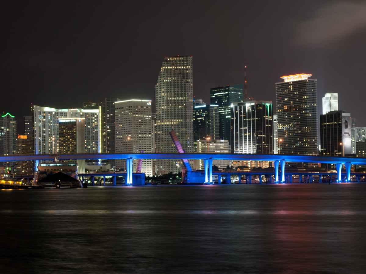 MIami by night Florida USA