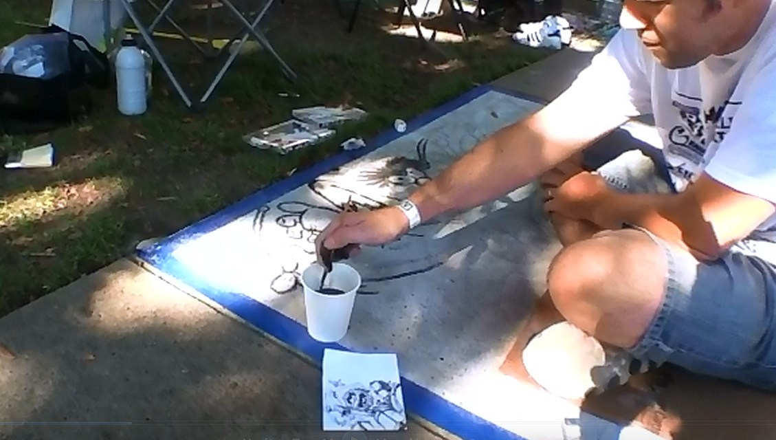 Artists Use Different Tricks To Make Their Art At Chalk It Up!