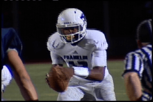 Franklin Quaterback Lamar Jackson was nine for 21 passing with 112 yards and carried the ball 17 ties for 85 yards marshaling a victory over Cosumnes Oaks.