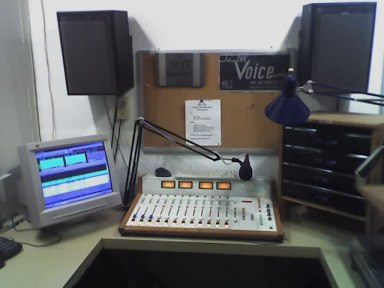 Radio programmers work from two radio production and broadcast studios at Access Sacramento inside the Coloma Community Center.