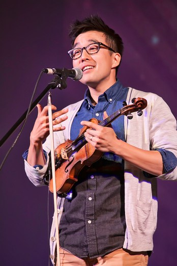 Music, Story, Song, and First Place for Joe Kye, of Joseph in the Well, during Sacramento Has Talent 2015. (Photo by Tia Gemmell Photography)